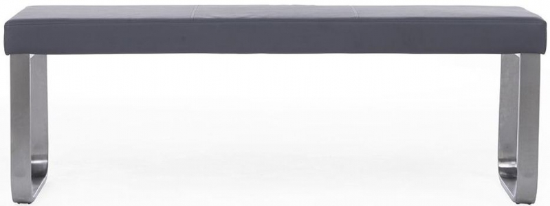Mark Harris Ava Dark Grey High Gloss Large Bench