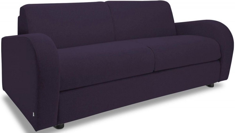 Jay-Be Retro Deep Sprung Mattress 3 Seater Sofa Bed - Aubergine Fabric