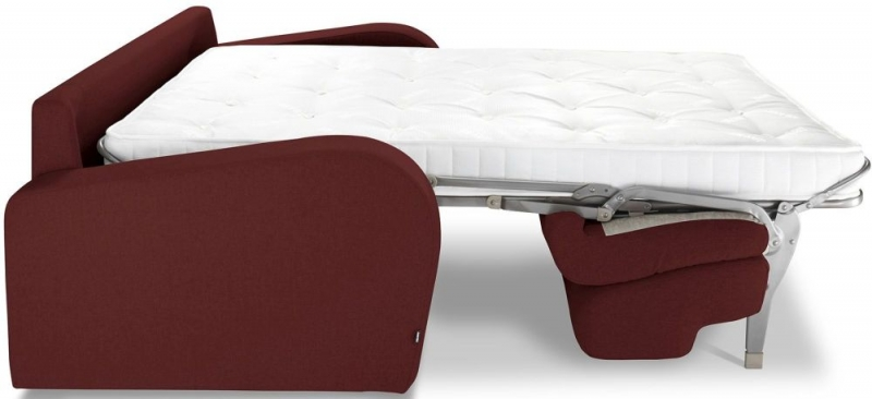 Jay-Be Retro Deep Sprung Mattress 2 Seater Sofa Bed - Berry Fabric