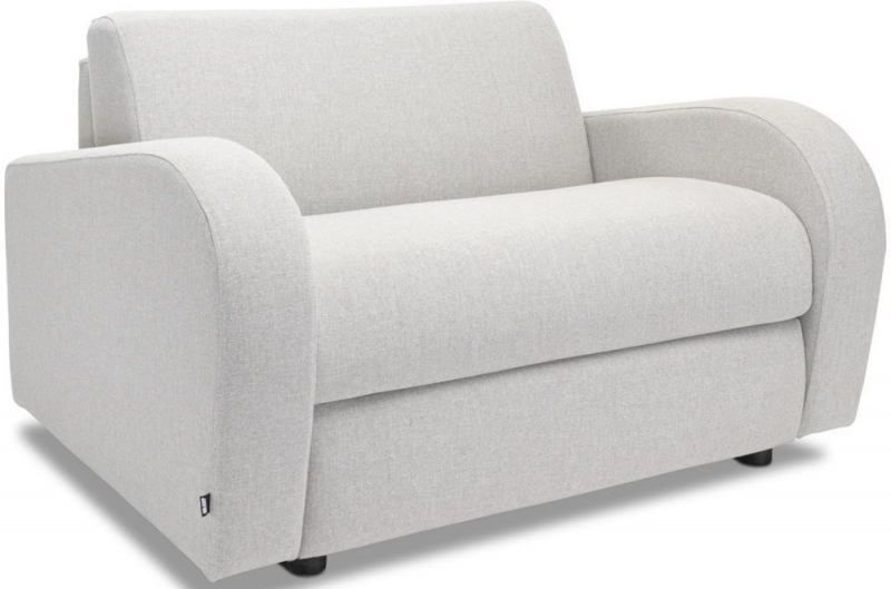 Jay-Be Retro Deep Sprung Mattress Chair Sofa Bed - Stone Fabric