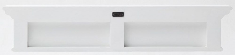 Nova Solo Halifax White Painted 6 Hook Coat Rack