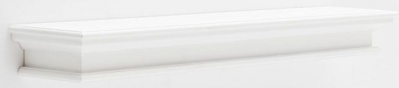 Nova Solo Halifax White Painted Large Floating Wall Shelf