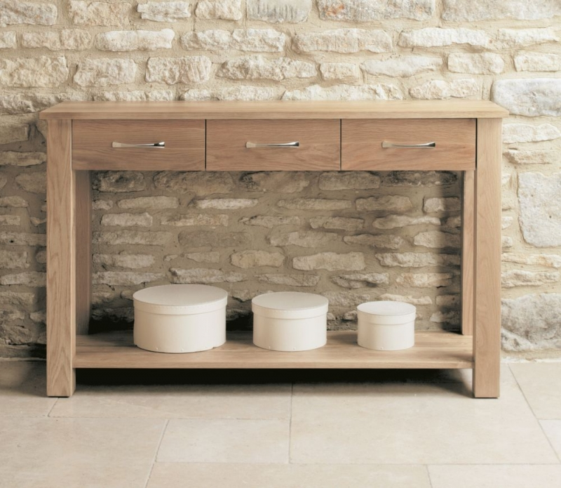 Baumhaus Mobel Oak Console Table