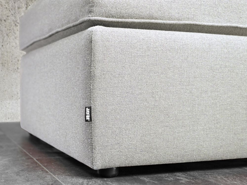 Jay-Be Footstool Airflow Fibre Mattress Bed - Stone Fabric