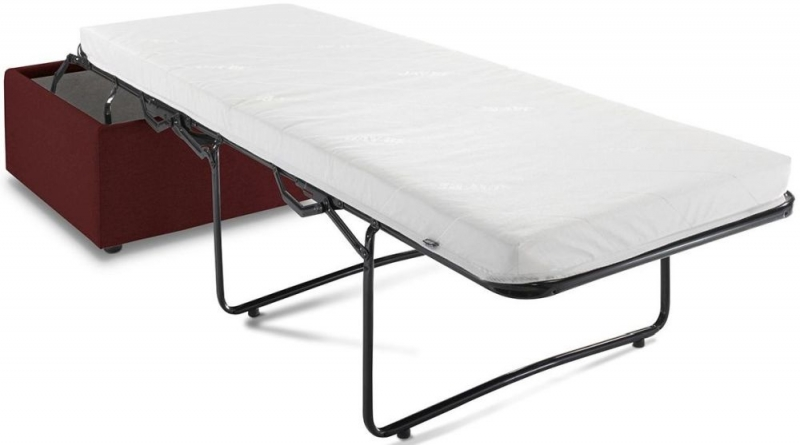 Jay-Be Footstool Airflow Fibre Mattress Bed - Berry Fabric