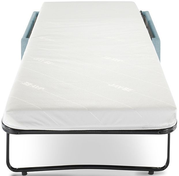 Jay-Be Footstool Airflow Fibre Mattress Bed - Duck Egg Fabric