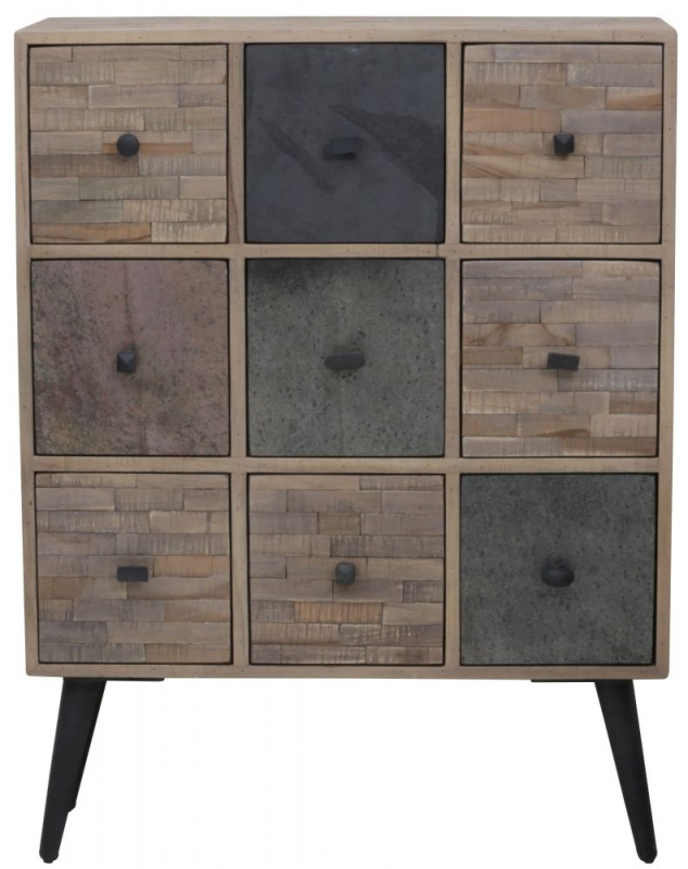 Buy Barico Large Cabinet Antique Grey Weathered Wood