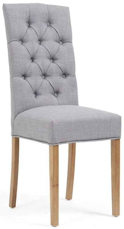 Mark Harris Clarissa Grey Fabric Dining Chair (Pair)