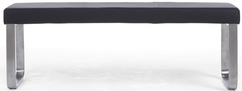 Mark Harris Ava Black Faux Leather Large Bench