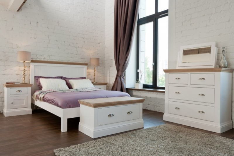 TCH Coelo Low Foot End Panel Bed - Oak and Painted