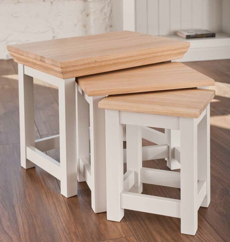 TCH Coelo Nest of Tables - Oak and Painted