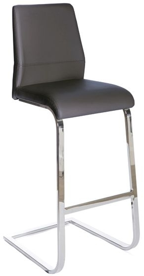 Seattle Grey Faux Leather Stool (Pair)