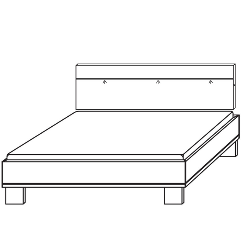 Rauch Fresh Line Alpine Super King Size Bed Frame 200CM x 190CM
