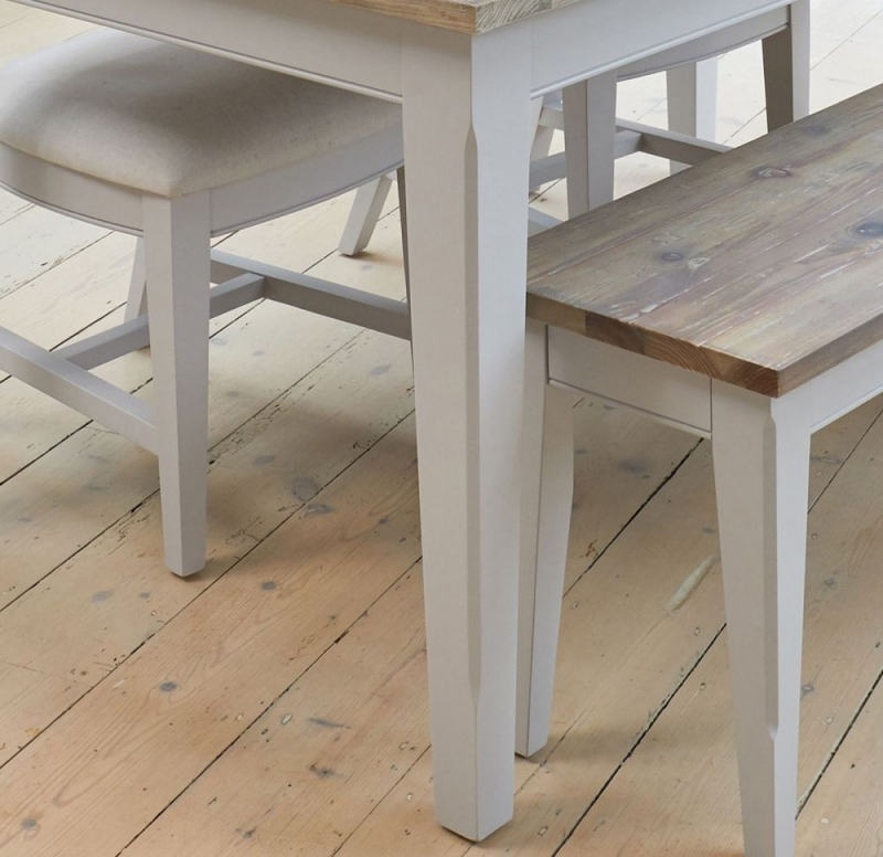 Baumhaus Signature Grey Painted Extending Dining Table