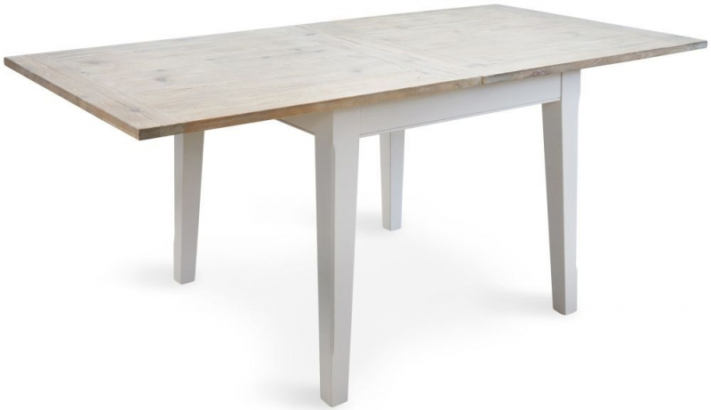 Baumhaus Signature Grey Painted Square Extending Dining Table with 2 Chairs and Bench