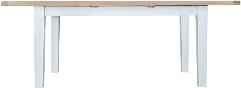 Hampstead Oak and White Painted 160cm Butterfly Extending Dining Table