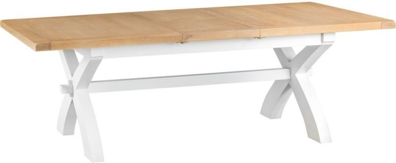 Hampstead Oak and White Painted 180cm Extending Dining Table