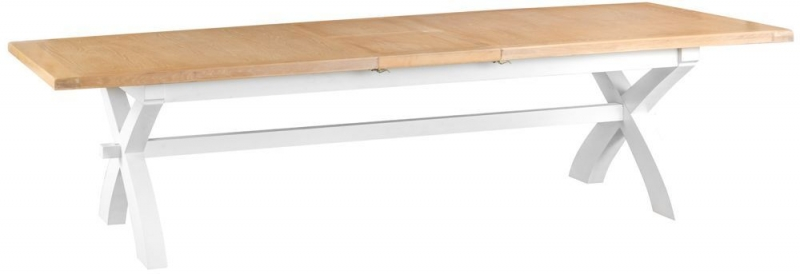 Hampstead Oak and White Painted 250cm Extending Dining Table