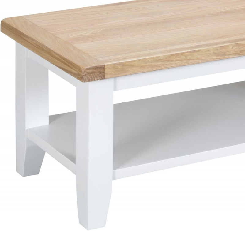 Hampstead Oak and White Painted Coffee Table