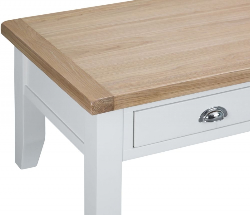 Hampstead Oak and White Painted 2 Drawer Coffee Table