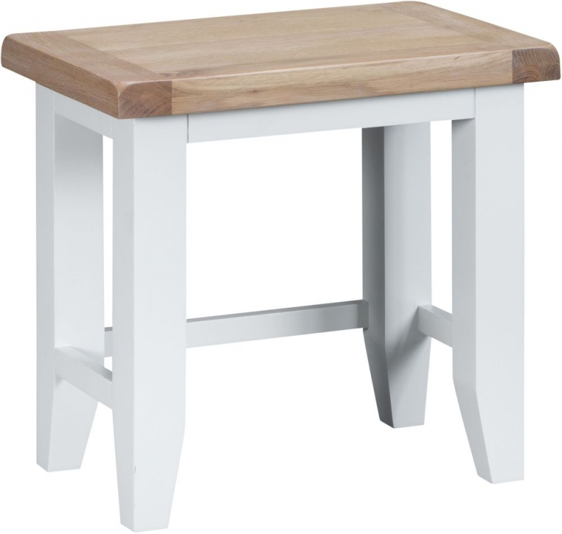 Hampstead Oak and White Painted Nest of 2 Tables