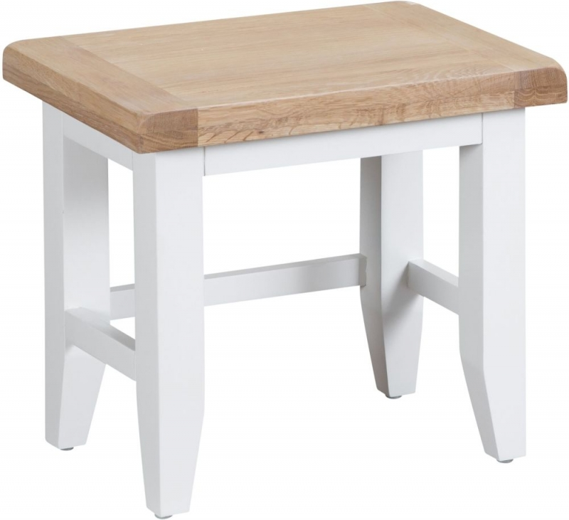 Hampstead Oak and White Painted Nest of 3 Tables