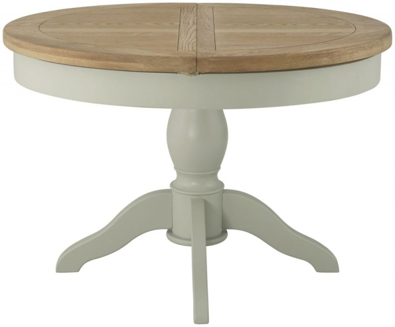 Portland Oak Grand Dining Table - 100cm-145cm Round Butterfly Extending