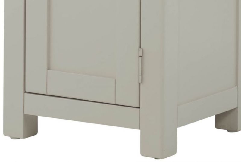 Portland Hall Cabinet - Oak and Stone Grey Painted