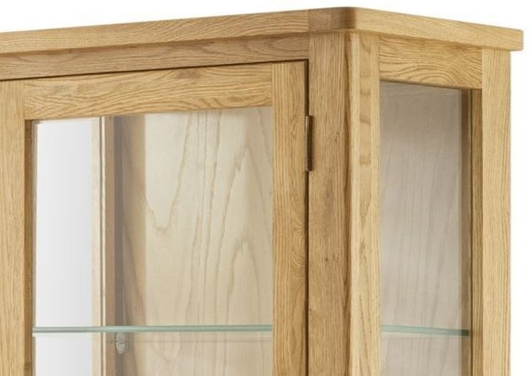 Portland Oak Glazed Display Cabinet