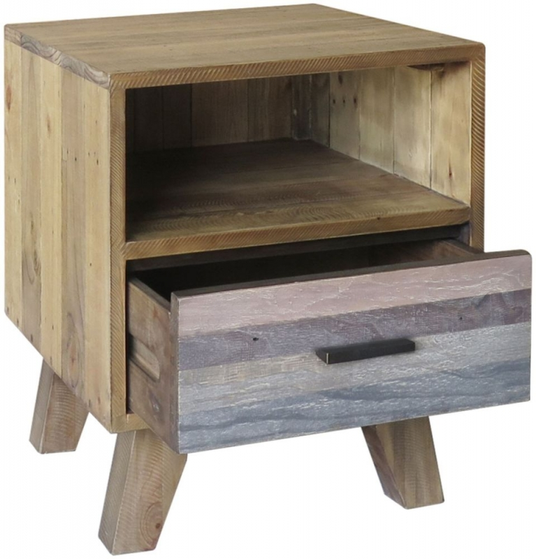 Buy Burwell Painted Reclaimed Wood Lamp Table With Drawer