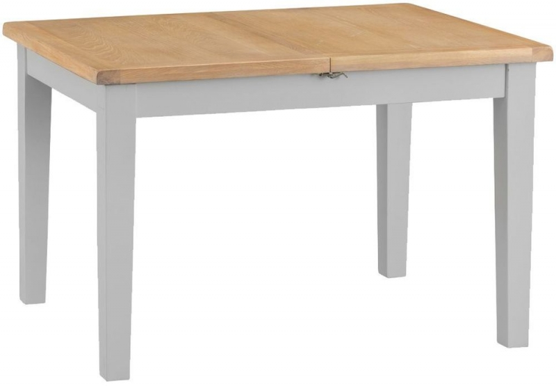 Hampstead Oak and Grey Painted 120cm Butterfly Extending Dining Table