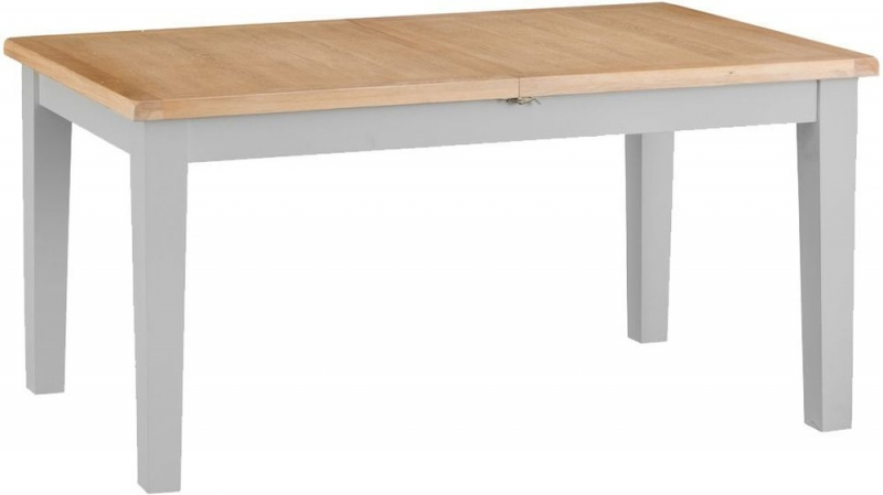 Hampstead Oak and Grey Painted 160cm Butterfly Extending Dining Table