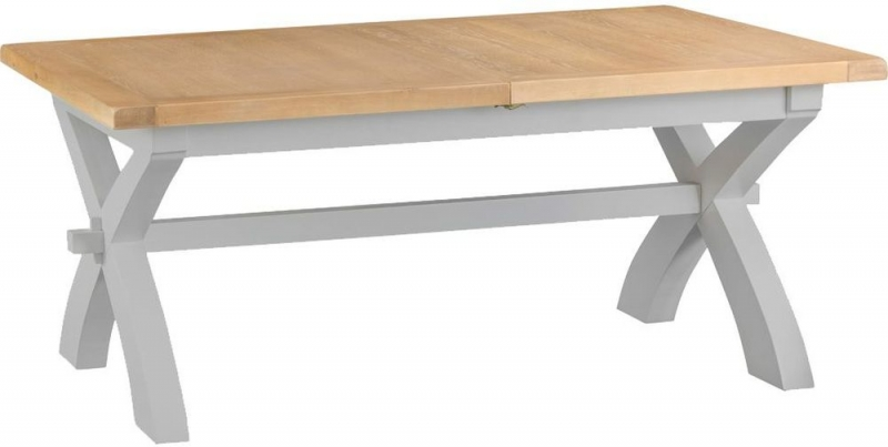 Hampstead Oak and Grey 180cm Painted Extending Dining Table