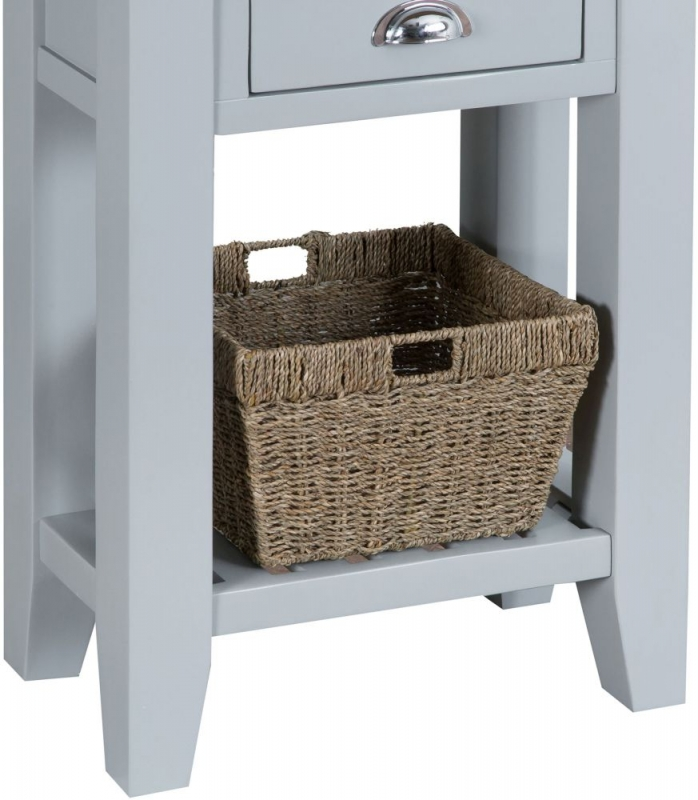 Hampstead Oak and Grey Painted 1 Drawer Telephone Table