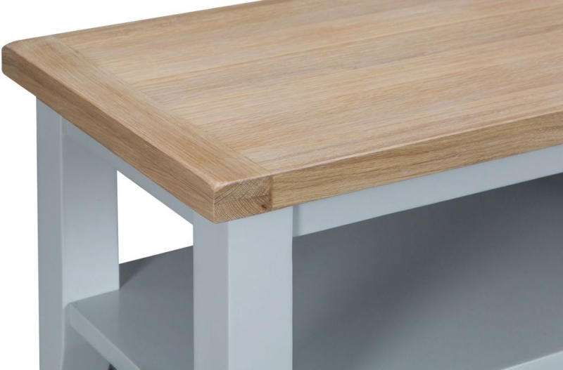 Hampstead Oak and Grey Painted Coffee Table