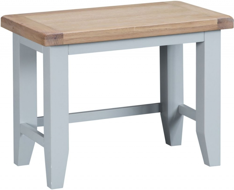 Hampstead Oak and Grey Painted Nest of 3 Tables