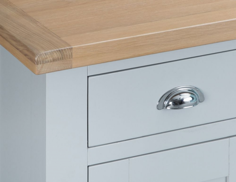 Hampstead Oak and Grey Painted 2 Door 1 Drawer Small Sideboard