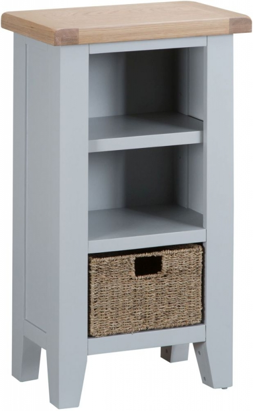 Hampstead Oak and Grey Painted Small Bookcase