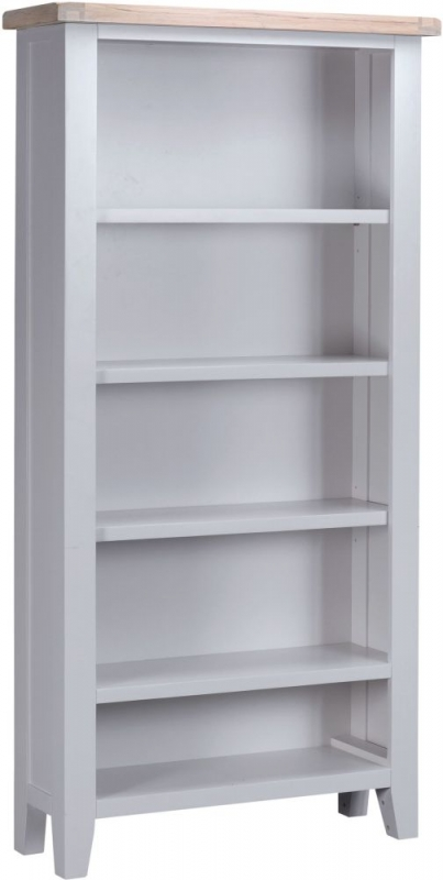 Hampstead Oak and Grey Painted Tall Bookcase