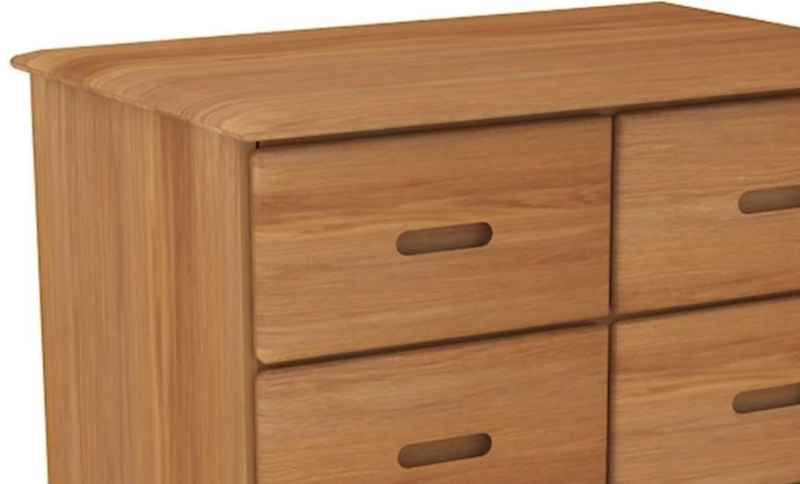 Malmo Oak 4 Over 3 Drawer Tall Chest