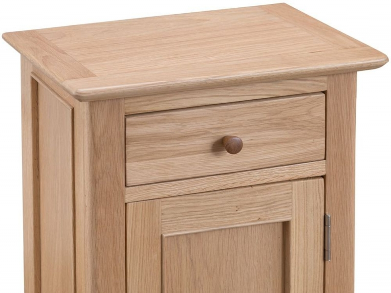 Appleby Oak 1 Door 1 Drawer Small Cupboard