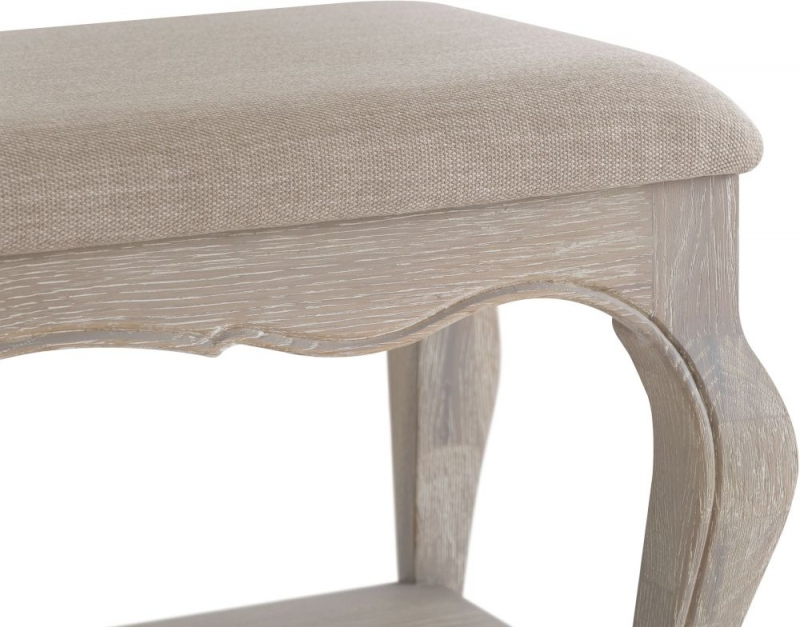 Camille Weathered Oak Bench