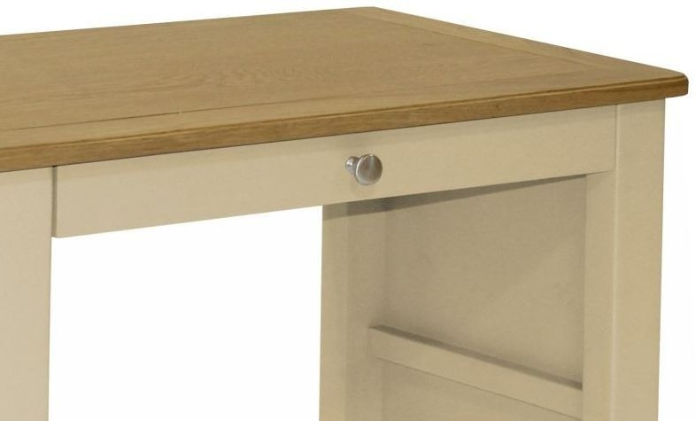 Harmony Cobblestone Oak and Painted Pedestal Dressing Table