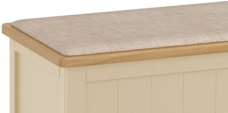 Harmony Cobblestone Ottoman - Oak and Painted
