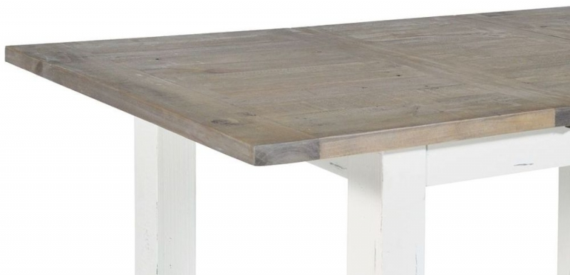 Rowico Purbeck Distressed White 140cm-190cm Extending Dining Table