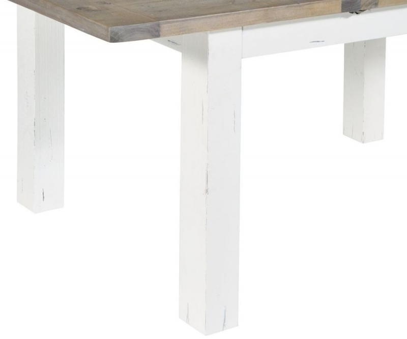 Rowico Purbeck Distressed White 180cm-230cm Extending Dining Table