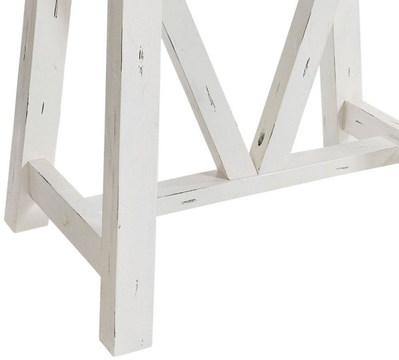 Rowico Purbeck Distressed White Bar Table