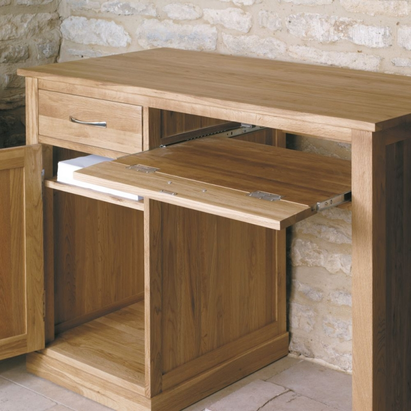 Baumhaus Mobel Oak 1 Door 2 Drawer Computer Desk