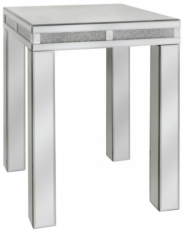 Naro Mirrored End Table