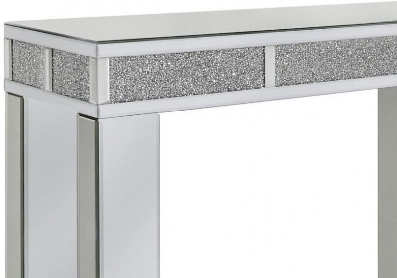 Naro Mirrored Bricks Console Table